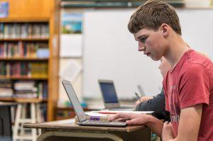 Computer work at Zion